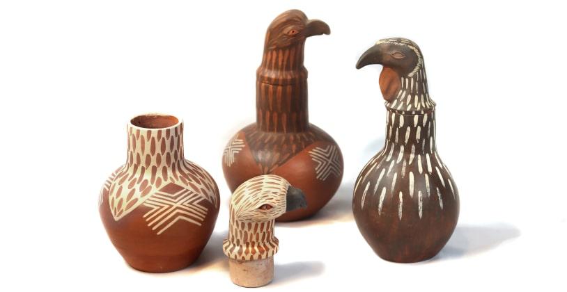 Produto: Moringa – Águia Material: Argila / Artesão: Nei Leite