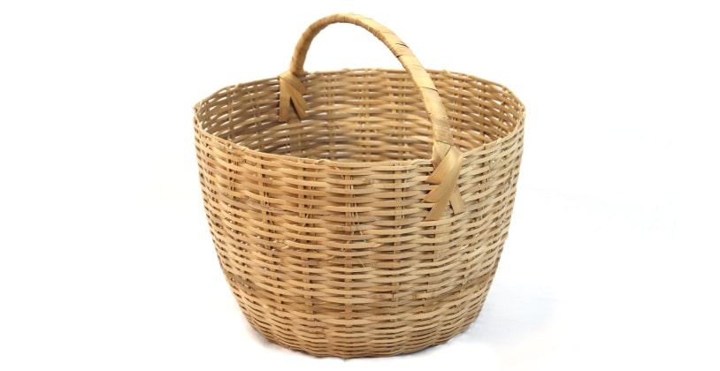 Produto: Cesto / Artesão: Valdivino e Valdomiro / Material: Bambu